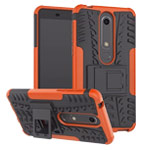 Чехол Yotrix Shockproof case для Nokia 6 2018 (оранжевый, пластиковый)