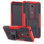 Чехол Yotrix Shockproof case для Nokia 6 2018 (красный, пластиковый)