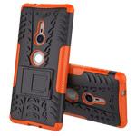 Чехол Yotrix Shockproof case для Sony Xperia XZ2 (оранжевый, пластиковый)