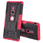 Чехол Yotrix Shockproof case для Sony Xperia XZ2 (розовый, пластиковый)
