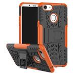 Чехол Yotrix Shockproof case для OPPO F5 (оранжевый, пластиковый)