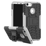 Чехол Yotrix Shockproof case для OPPO F5 (белый, пластиковый)