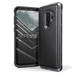 Чехол X-doria Defense Lux для Samsung Galaxy S9 plus (Black Leather, маталлический)