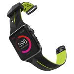 Ремешок для часов X-Doria Action Band для Apple Watch (42 мм, черный/зеленый, силиконовый)