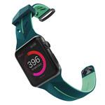 Ремешок для часов X-Doria Action Band для Apple Watch (38 мм, зеленый/бирюзовый, силиконовый)