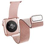 Ремешок для часов X-Doria Hybrid Mesh Band для Apple Watch (38 мм, розово-золотистый, стальной)