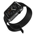 Ремешок для часов X-Doria Mesh Band для Apple Watch (38 мм, черный, стальной)