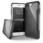 Чехол X-doria Defense Clear для Apple iPhone 8 plus (черный, пластиковый)