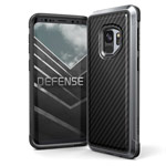 Чехол X-doria Defense Lux для Samsung Galaxy S9 (Black Carbon, маталлический)