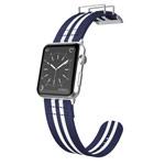 Ремешок для часов X-Doria Field Band для Apple Watch (38 мм, белый/синий, матерчатый)