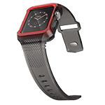 Ремешок для часов X-Doria Rumble Band для Apple Watch (42 мм, черный, силиконовый)