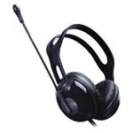 Наушники Microlab Multimedia Headset K280 (черные, пульт/микрофон, гарнитура)