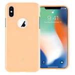 Чехол Mercury Goospery Jelly Case Hole для Apple iPhone X (золотистый, гелевый)