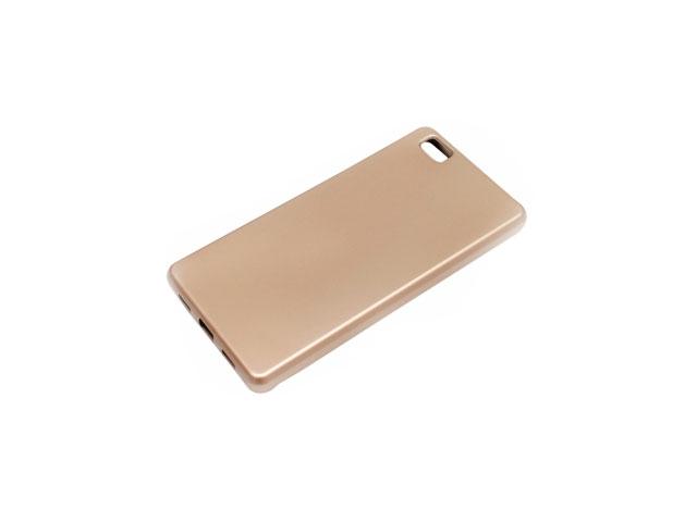 Чехол Mercury Goospery Jelly Case для Huawei P8 lite (золотистый, гелевый)