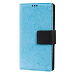Чехол Moings Go Go Book Case для Samsung Galaxy S4 i9500 (черный/синий, с визитницей, кожанный)