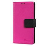 Чехол Moings Go Go Book Case для Samsung Galaxy S4 i9500 (черный/розовый, с визитницей, кожанный)