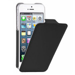 Чехол Kuboq U/Flip Case для Apple iPhone 5 (черный, кожанный)
