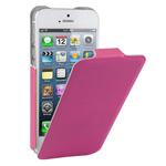 Чехол Kuboq U/Flip Case для Apple iPhone 5 (розовый, кожанный)