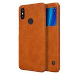 Чехол Nillkin Qin leather case для Xiaomi Mi A2 (коричневый, кожаный)