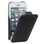 Чехол Kuboq J/Flip Case для Apple iPhone 5 (черный, кожанный)