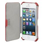 Чехол Kuboq J/Book Case для Apple iPhone 5 (красный, кожанный)