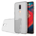 Чехол Nillkin Nature case для OnePlus 6 (серый, гелевый)
