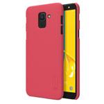 Чехол Nillkin Hard case для Samsung Galaxy J6 (красный, пластиковый)