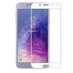 Защитное стекло Yotrix 3D Glass Protector для Samsung Galaxy J4 (белое)