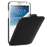 Чехол Vetti Craft Slim Flip Case для Samsung Galaxy Note 2 N7100 (черный, кожанный)
