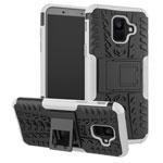 Чехол Yotrix Shockproof case для Samsung Galaxy A6 2018 (белый, пластиковый)