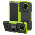 Чехол Yotrix Shockproof case для Samsung Galaxy A6 2018 (зеленый, пластиковый)