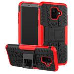 Чехол Yotrix Shockproof case для Samsung Galaxy A6 2018 (красный, пластиковый)