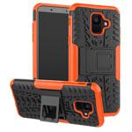 Чехол Yotrix Shockproof case для Samsung Galaxy A6 2018 (оранжевый, пластиковый)