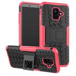 Чехол Yotrix Shockproof case для Samsung Galaxy A6 2018 (розовый, пластиковый)