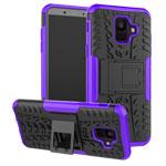 Чехол Yotrix Shockproof case для Samsung Galaxy A6 2018 (фиолетовый, пластиковый)