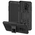 Чехол Yotrix Shockproof case для Samsung Galaxy A6 plus 2018 (черный, пластиковый)
