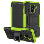 Чехол Yotrix Shockproof case для Samsung Galaxy A6 plus 2018 (зеленый, пластиковый)