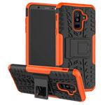 Чехол Yotrix Shockproof case для Samsung Galaxy A6 plus 2018 (оранжевый, пластиковый)