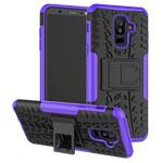 Чехол Yotrix Shockproof case для Samsung Galaxy A6 plus 2018 (фиолетовый, пластиковый)