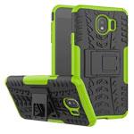 Чехол Yotrix Shockproof case для Samsung Galaxy J4 (зеленый, пластиковый)