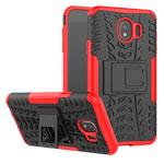 Чехол Yotrix Shockproof case для Samsung Galaxy J4 (красный, пластиковый)