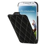 Чехол Vetti Craft Slim Flip Case для Samsung Galaxy S4 i9500 (черный, стеганный, кожанный)
