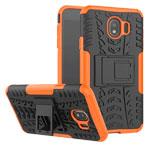 Чехол Yotrix Shockproof case для Samsung Galaxy J4 (оранжевый, пластиковый)