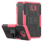 Чехол Yotrix Shockproof case для Samsung Galaxy J4 (розовый, пластиковый)