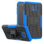 Чехол Yotrix Shockproof case для Samsung Galaxy J4 (синий, пластиковый)