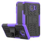 Чехол Yotrix Shockproof case для Samsung Galaxy J4 (фиолетовый, пластиковый)