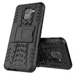 Чехол Yotrix Shockproof case для Samsung Galaxy J6 (черный, пластиковый)