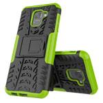 Чехол Yotrix Shockproof case для Samsung Galaxy J6 (зеленый, пластиковый)