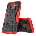 Чехол Yotrix Shockproof case для Samsung Galaxy J6 (красный, пластиковый)