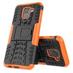 Чехол Yotrix Shockproof case для Samsung Galaxy J6 (оранжевый, пластиковый)